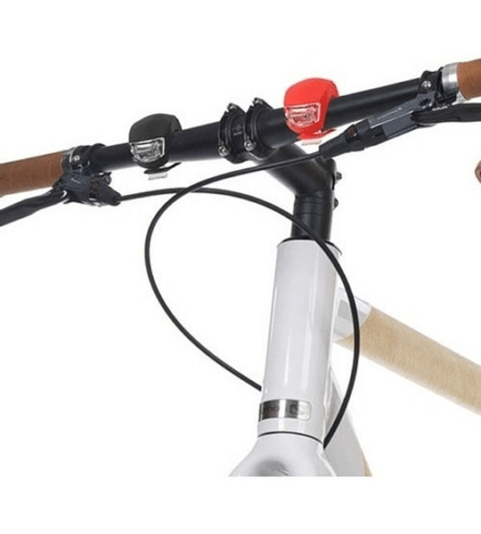 Pack 2 Luz Led Bicicleta Blanca Delantera Roja Trasera