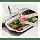 Tabla De Silicona 2 En 1 De Cortar Plegable Drenaje Cocina