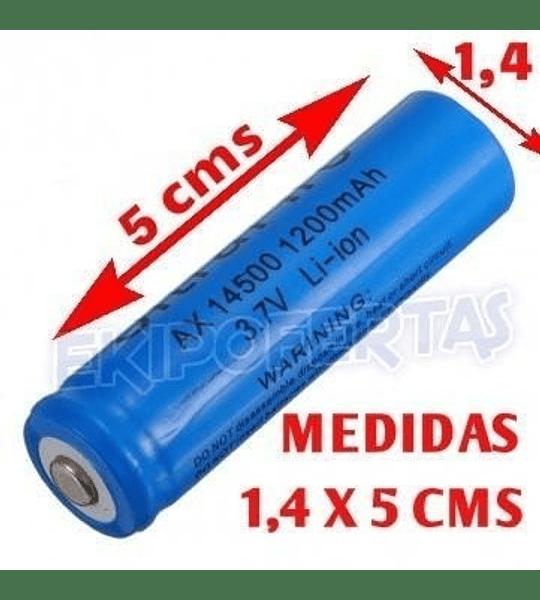 Pack 2 Pilas Baterias 14500 3.7v Li-ion 1500