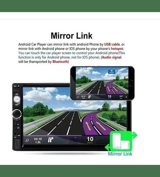 Radio Auto Doble Din Bluetooth Touch Mp5 Mirror Comando Vola