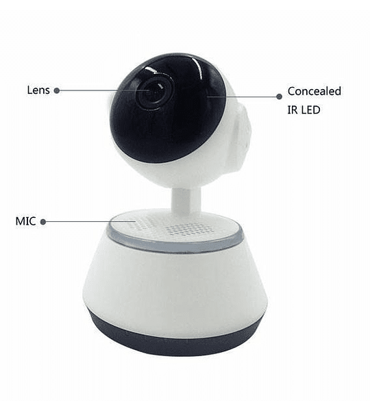 Cámara Ip Ipm Wifi Smart Robotizada Alarma