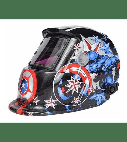 Mascara Fotosensible Soldador Capitan America