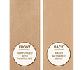 Pack 6 Cintas Papel Kraft Engomado Embalaje Reforzado Kraft