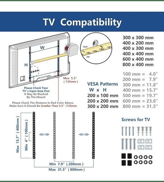 Soporte Lcd Led Plasma De 14 A 42 Pulgadas Tv