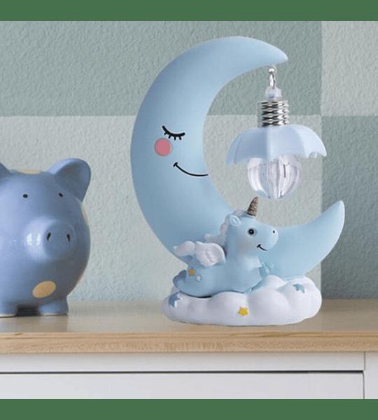 Lampara Luna Unicornio Espanta Cuco Niños Niñas