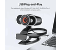 Camara Webcam Usb Con Micrófono Teletrabajo Videoconferencia