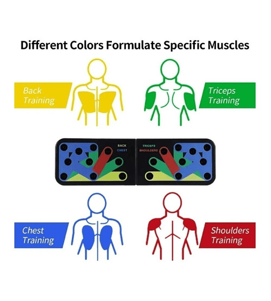 Tabla Para Flexiones Codificada Con Colores Ejercicios Gym