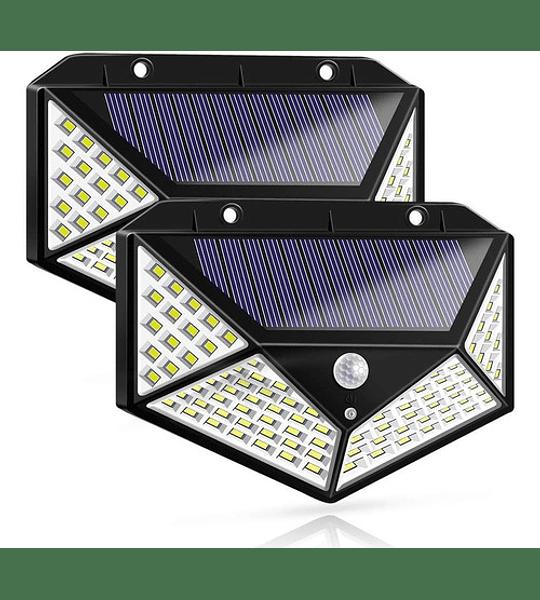Pack X 4 Lampara Solar 100 Led Exterior Sensor De Movimiento