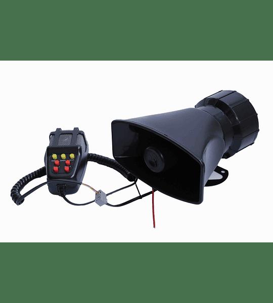 Sirena Policial Carabinero 7 Tonos Megafono 100w 12v Karvas