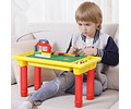 Mesa 3 En 1 Estudio Bloque Construcción Lego Almacenamiento
