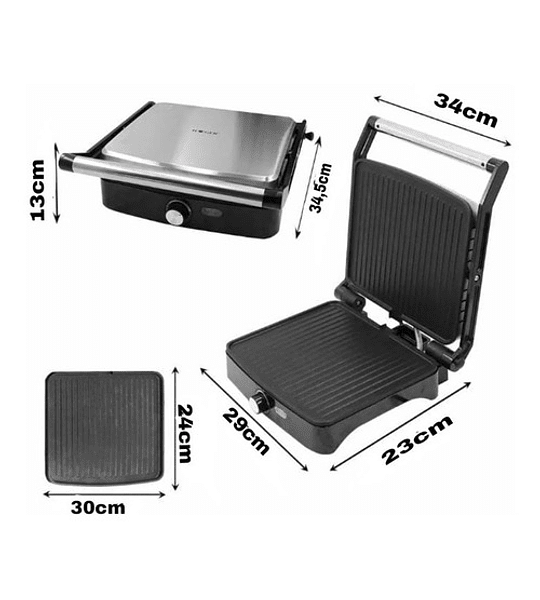 Sandwichera Grill Electrico Parrillera Panini Multifuncional