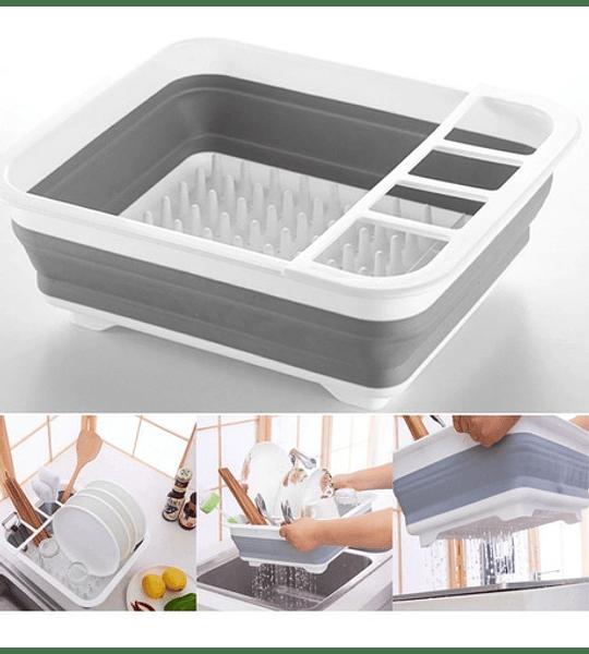 Secador Platos Plegable Cocina
