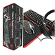 Combo Kit 4x1 Gamer Teclado + Mouse + Audifonos + Mouse Pad