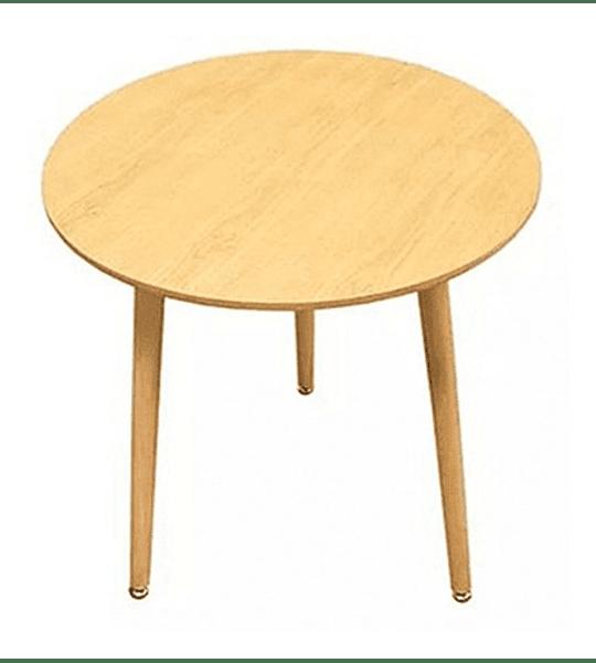Mesa Eames Redonda 80 Cm Diseño Madera