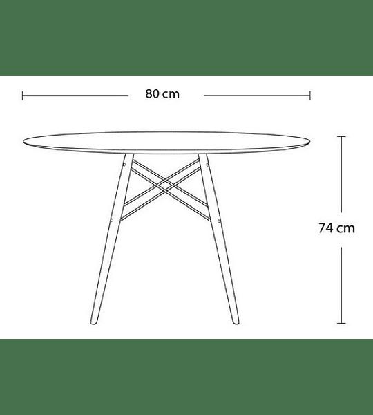 Mesa Eames Redonda 80 Cm Diseño Vintage