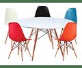 Mesa Eames Redonda 100 Cm Diseño Vintage