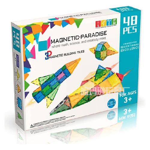 Juego de 48 piezas magnéticas Magnetic-Paradise