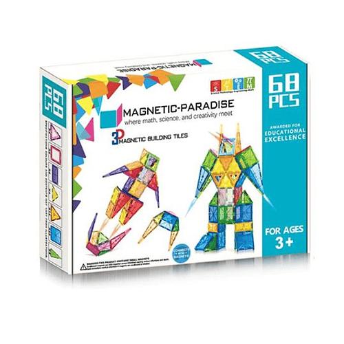 Juego de 68 piezas magnéticas Magnetic-Paradise