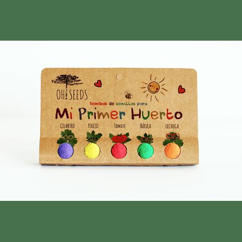 Kit Mi Primer Huerto – Cilantro, Perejil, Tomate, Rúcula y Lechuga