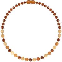 Collar de Ámbar Bebes - Cognac/Aventurina