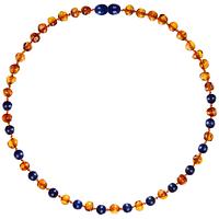 Collar de Ámbar Bebes - Cognac/Lapis Lazuli