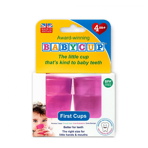 Vasos BabyCup Rosado - Set 4 Vasitos