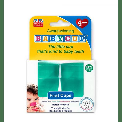 Vasos BabyCup Verde - Set 4 Vasitos