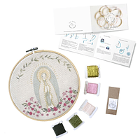 Mini Kit para bordar Virgen de Lourdes