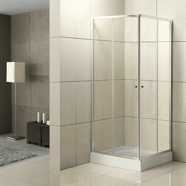 Cabina de ducha base cuadrada