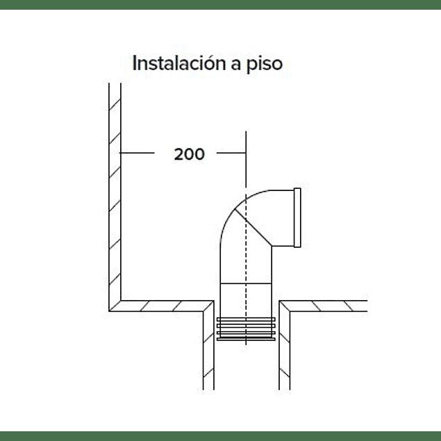 Adaptador sanitario a piso 20 cm
