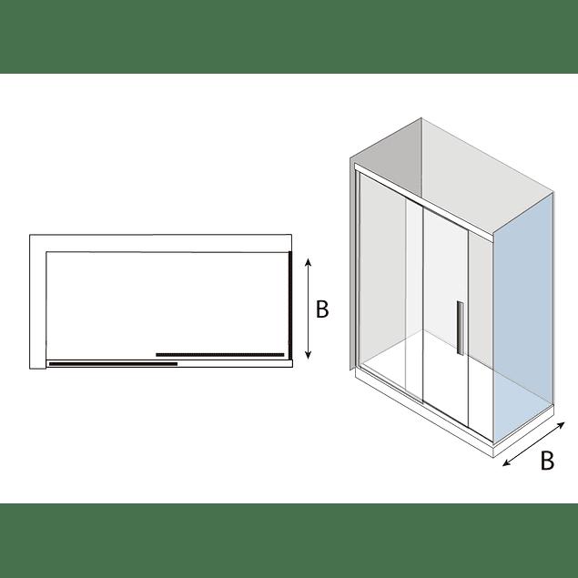 Mampara Side Panel 70 cms para puerta corredera