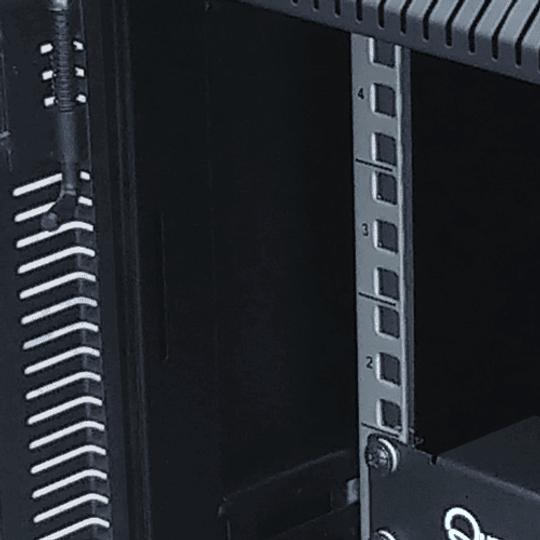 Gabinete de Pared Compacto de 9U con Puerta en vidrio • Color: Negro