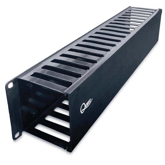 Organizador Horizontal de Cables Tipo Ducto de 80 x 85 mm
