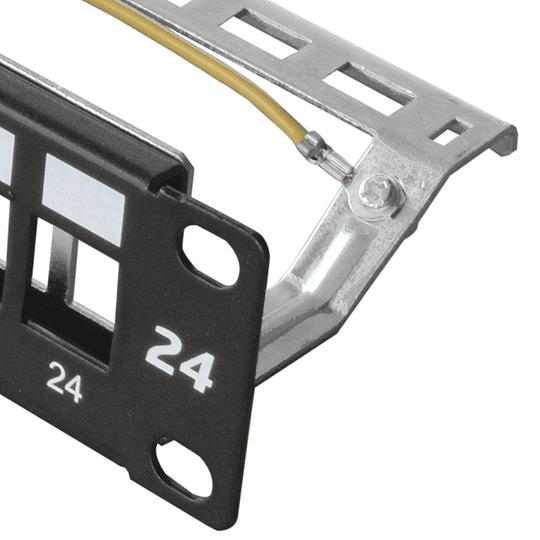 Base Panel Blindada para 24 Jacks Categoría 6A