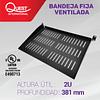 Bandeja Fija Ventilada de 2U • Profundidad: 381 mm