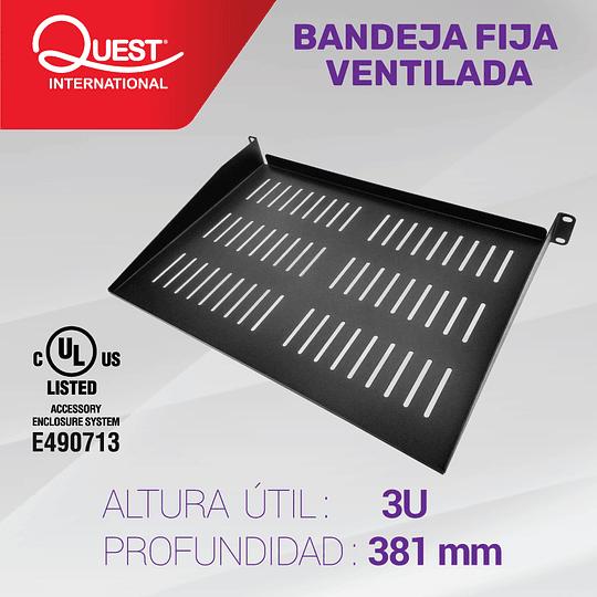 Bandeja Fija Ventilada de 3U • Profundidad: 381 mm