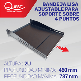 Bandeja Lisa Ajustable de 2U