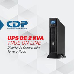 UPS ONLINE MONOFASICA DE 2 KVA PARA TAREAS CRÍTICAS Y APLICACIONES CORPORATIVAS