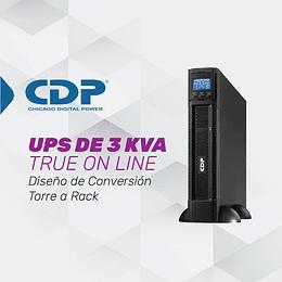 UPS ONLINE MONOFASICA DE 3 KVA PARA TAREAS CRÍTICAS Y APLICACIONES CORPORATIVAS