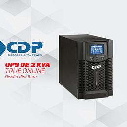 UPS ONLINE MONOFASICA ONDA SENOIDALDOBLE CONVERSION DE 2 KVA TIPO TORRE