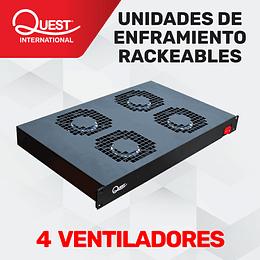 Unidad de Enfriamiento Rackeable de 4 Ventiladores