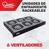 Unidad de Enfriamiento Rackeable de 6 Ventiladores