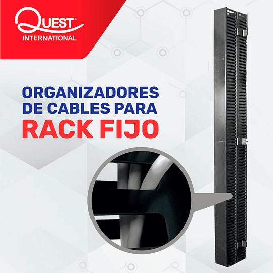 Organizador Vertical de Cables Tipo Ducto de 60 x 80 mm para Rack Abierto