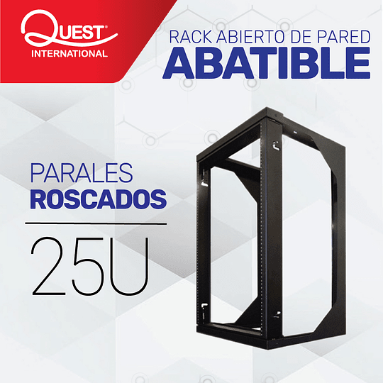 Rack Abierto de Pared Abatible 25U