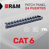 Patch Panel de 24 Puertos Categoría 6 R&M