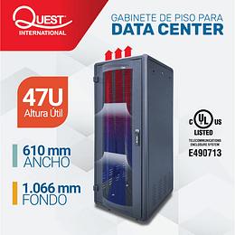 Gabinetes de Piso 47U | Ancho: 610 mm • Fondo: 1,066 mm
