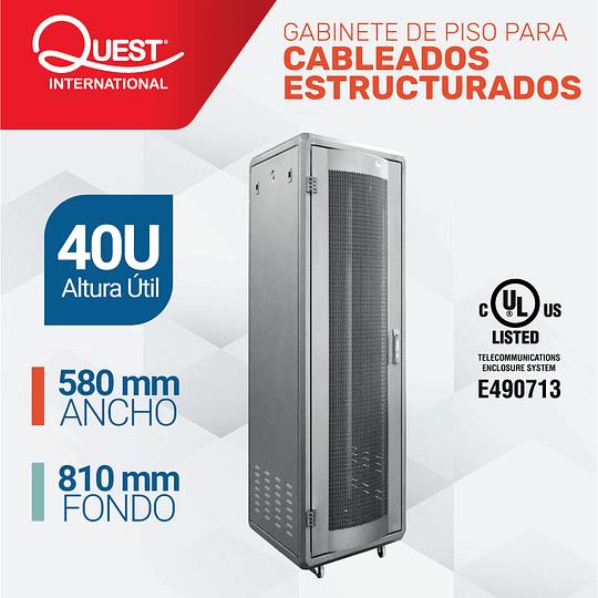 Gabinetes de Piso 40U | Ancho: 580 mm • Fondo: 810 mm