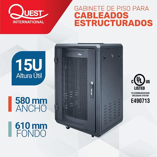 Gabinetes de Piso 15U | Ancho: 580 mm • Fondo: 610 mm