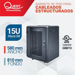 Gabinetes de Piso 15U | Ancho: 580 mm • Fondo: 810 mm