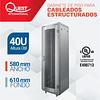 Gabinetes de Piso 40U | Ancho: 580 mm • Fondo: 610 mm